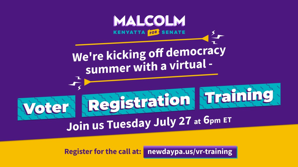 Our vote is our power. While we're holding the PA GOP accountable for their assault on our democracy, we're making sure that everyone is registered and ready to cast their ballot. Join us on July 27 for our first Voter Registration training: https://t.co/5zO0zanafq https://t.co/iF8V13MOeb