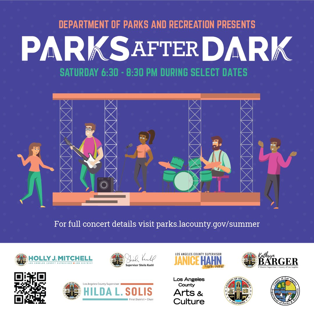 THIS WEEKEND:  Join us at a park near you for FREE, fun movies & concerts under the stars!⭐️ All summer long, #LACountyParks will air popular movies on Friday nights & jam out to live music on Saturday nights! 🎬🎤 Visit https://t.co/XDPYisaigF for more info. #ParksAfterDark https://t.co/T5gUROMMwM