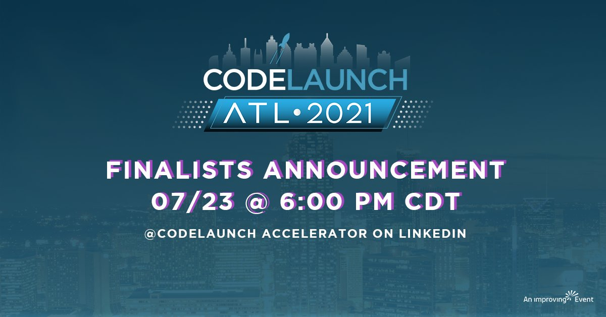 3rd time a charm? Tune in tomorrow to see if @DucieClub is heading to the finals in the #ATL @CodeLaunch @ConsciousCap Capitalism   @Improving   @CodeAuthority  @BuildTechGroup  #startupstories  #startupfunding #entrepreneurialjourney  #codelaunch
