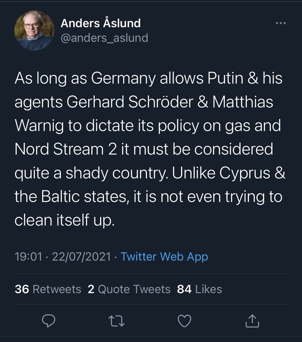 What @anders_aslund neglects to mention that there is a way for Germany to purge itself of its shadiness & come back into the fold.   By making a large donation to the @AtlanticCouncil. Just like the, not-at-all shady, Ukrainian oligarchs & Gulf despots that fund it now. https://t.co/kjgUbwUnva