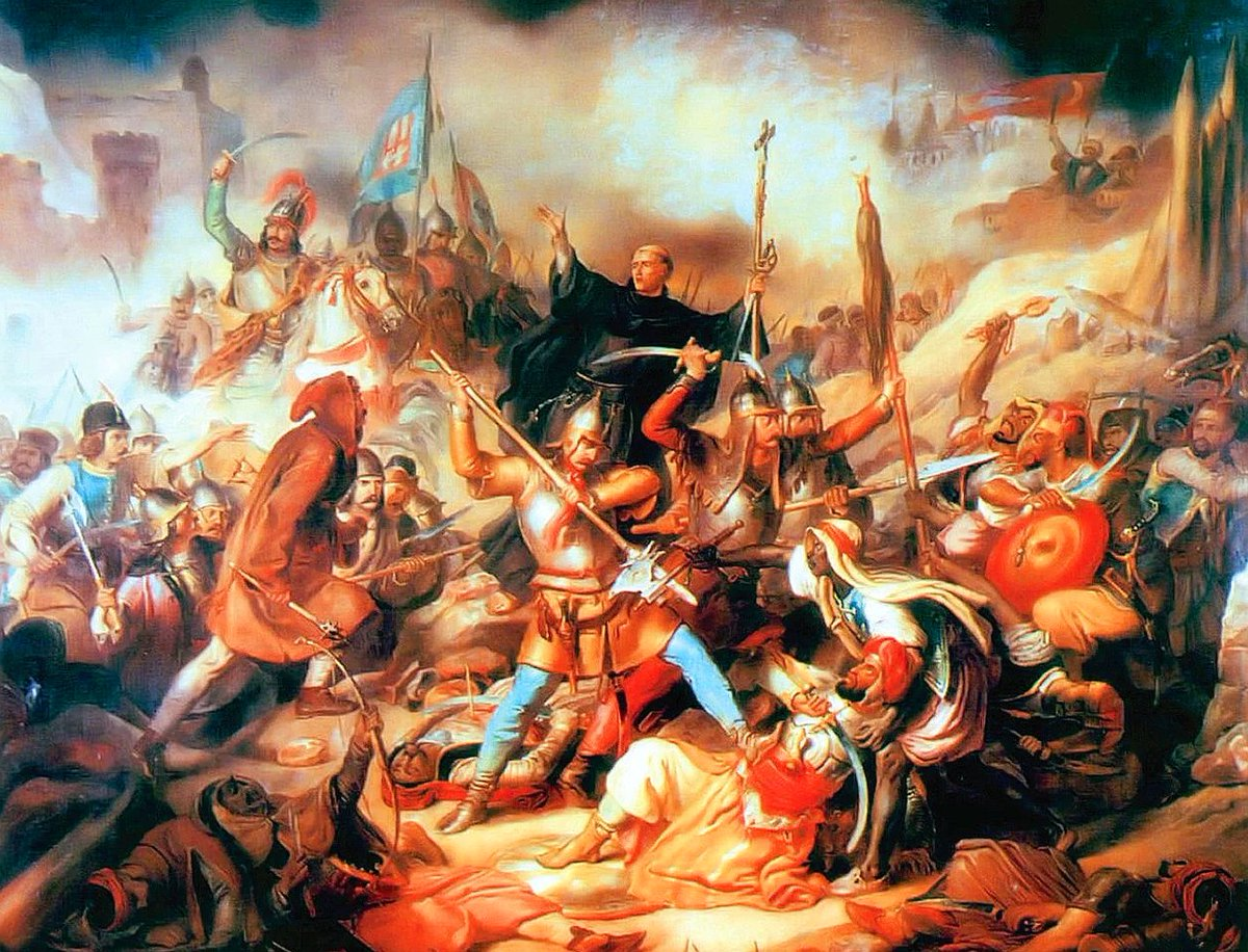 Today 22 July is the anniversary of the final battle of the 1456 siege of Belgrade where John Hunyadi and his crusader Christian force defeated the Mohammedan Ottomans and stopped the Ottoman expansion into Europe for decades. One of the last real crusades in Europe! https://t.co/EL9iSWAI2U