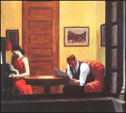 'If you could say it in words there would be no a reason to paint.' -  Edward Hopper, Room in New York, 1932 https://t.co/iGnEFvcDE0