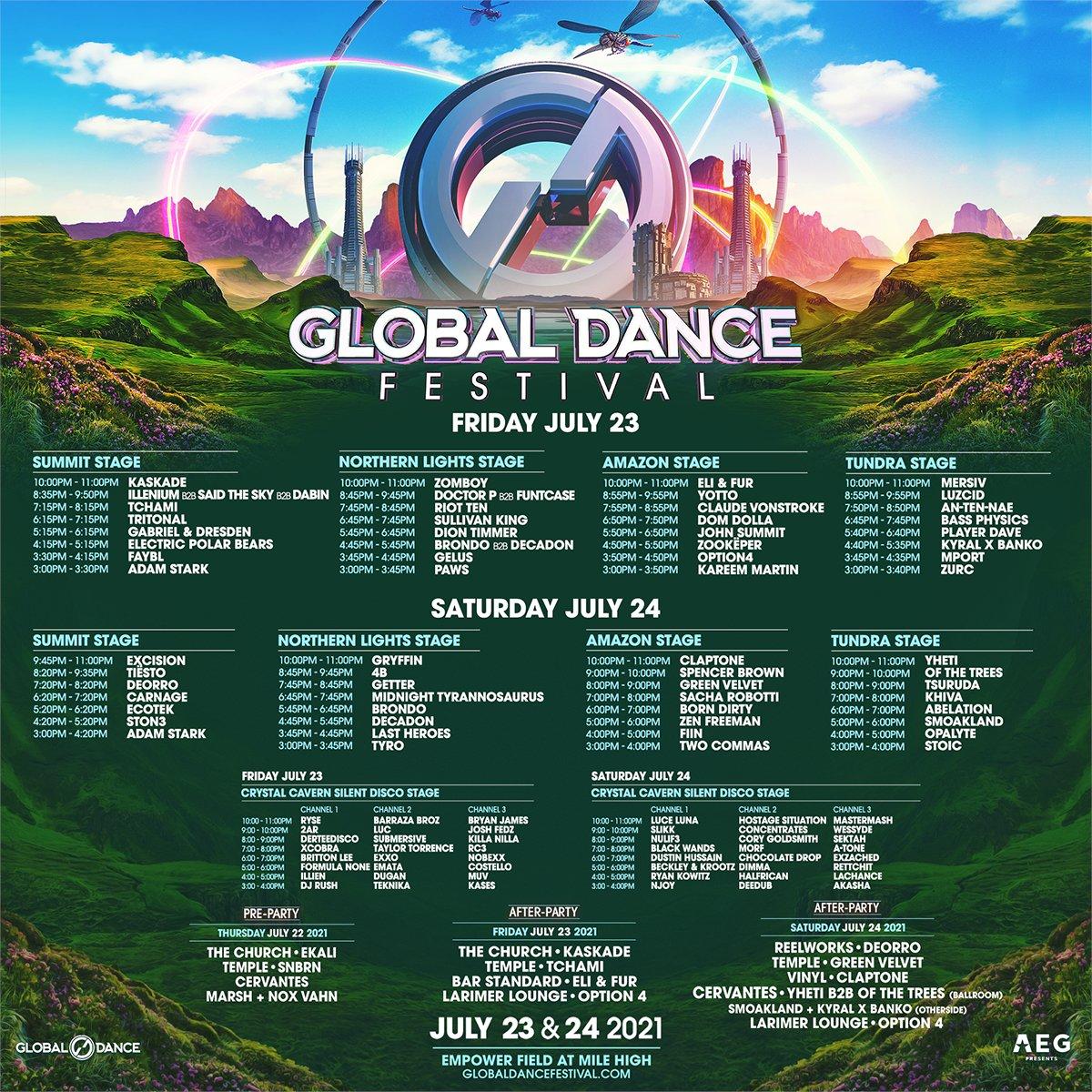 Global Dance Festival 2021 schedule