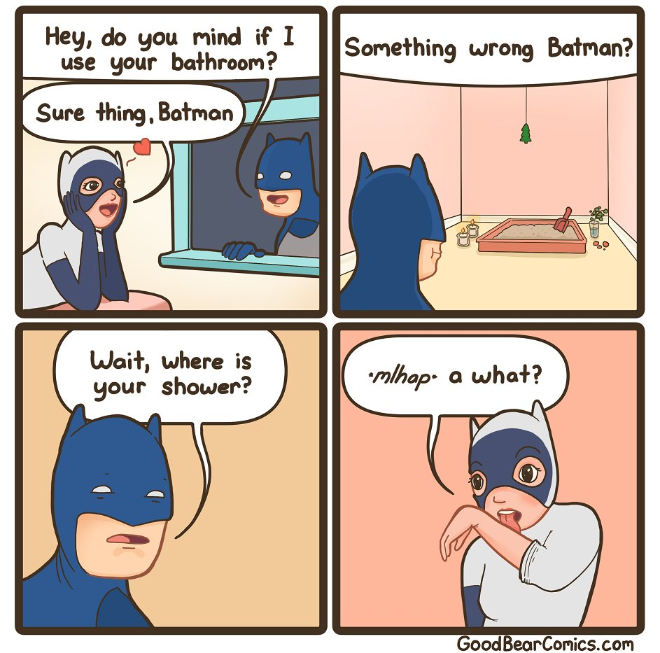 So this is why Batman doesn't go down...  ✍🏻 @goodbearperson https://t.co/tXQWTdgo42