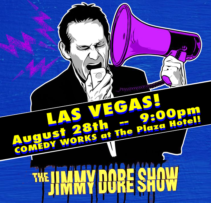 ⚡️LAS VEGAS -- August 28th! See The Jimmy Dore Show Live! 9:00pm -- The Plaza Hotel Comedy Works TICKETS: https://t.co/wWBt469iJT https://t.co/UCna6PwPir