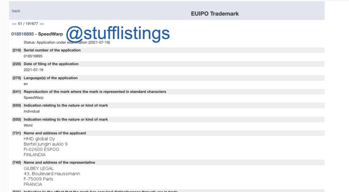 HMD Global files the trademark for SpeedWarp. #Nokia #SpeedWarp https://t.co/qbJvL6Xal0