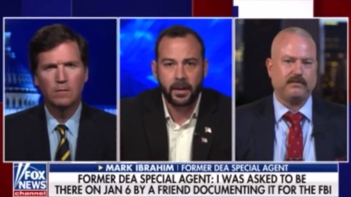 Tucker Carlson With An Update On His Investigation Into Whether The FBI Was Involved At All In The January 6th Protest  Tucker Interviews A Former DEA Agent Who Says He Was Invited By A FBI Informant To Go The Capitol That Day & Was Encouraged By This Man To Go Into The Capitol https://t.co/iRsY2VTz79