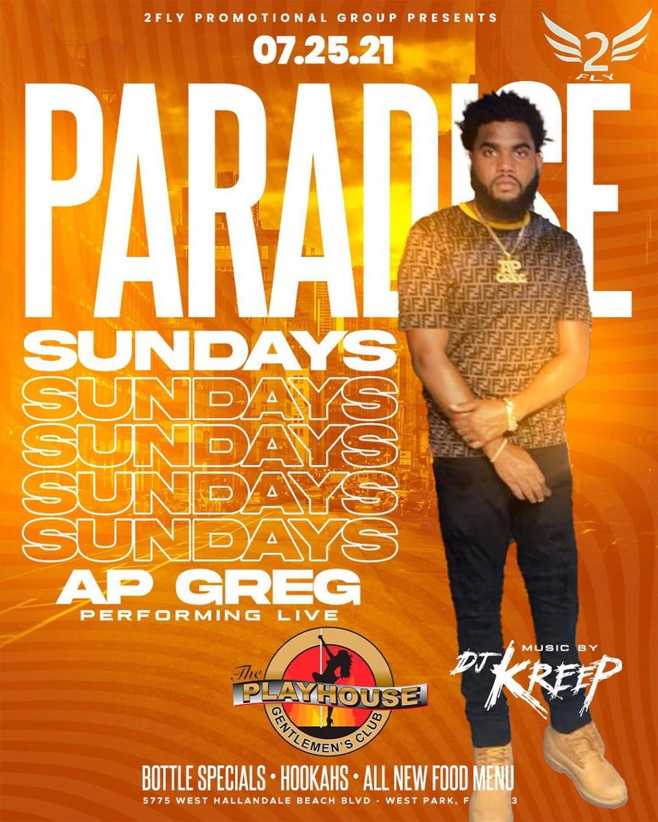This Sunday at Playhouse @APGREG4REAL Performing Live ‼️ Powered By @gfield2fly @ShaunG https://t.co/b2yQsJk2SA