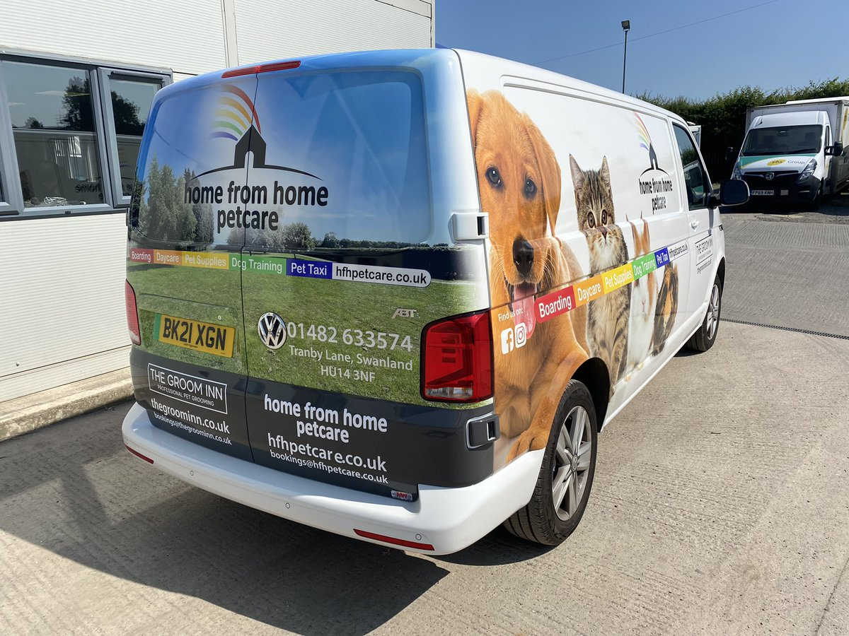 test Twitter Media - A new electric VW Transporter ABTe with livery designed by MW Graphics for customer Home From Home Pet Care Ltd to mirror branding guidelines. Printing on clear @3MFilmsUK wrap from @ws_1832 to show the original van colour. #HFHPetcare #MWGraphics #MWHull #3M #WilliamSmith https://t.co/3VxW37ffRw