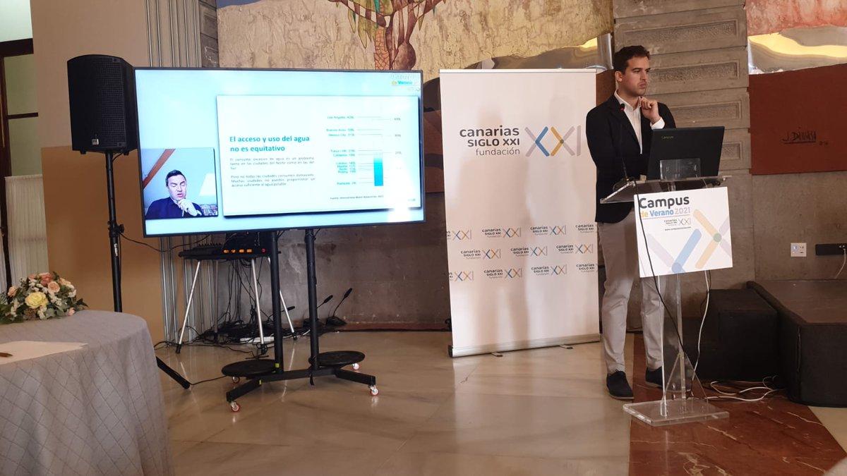 Gracias @canariassiglox2 y @LuisAlvaradoMa por la invitación a compartir sobre @50LHome y la importancia de #innovación y #colaboración público-privada-civil en generar respuestas relevantes y colaborativas al estrés hídrico. #Canarias #water https://t.co/RmpfUCtG9u
