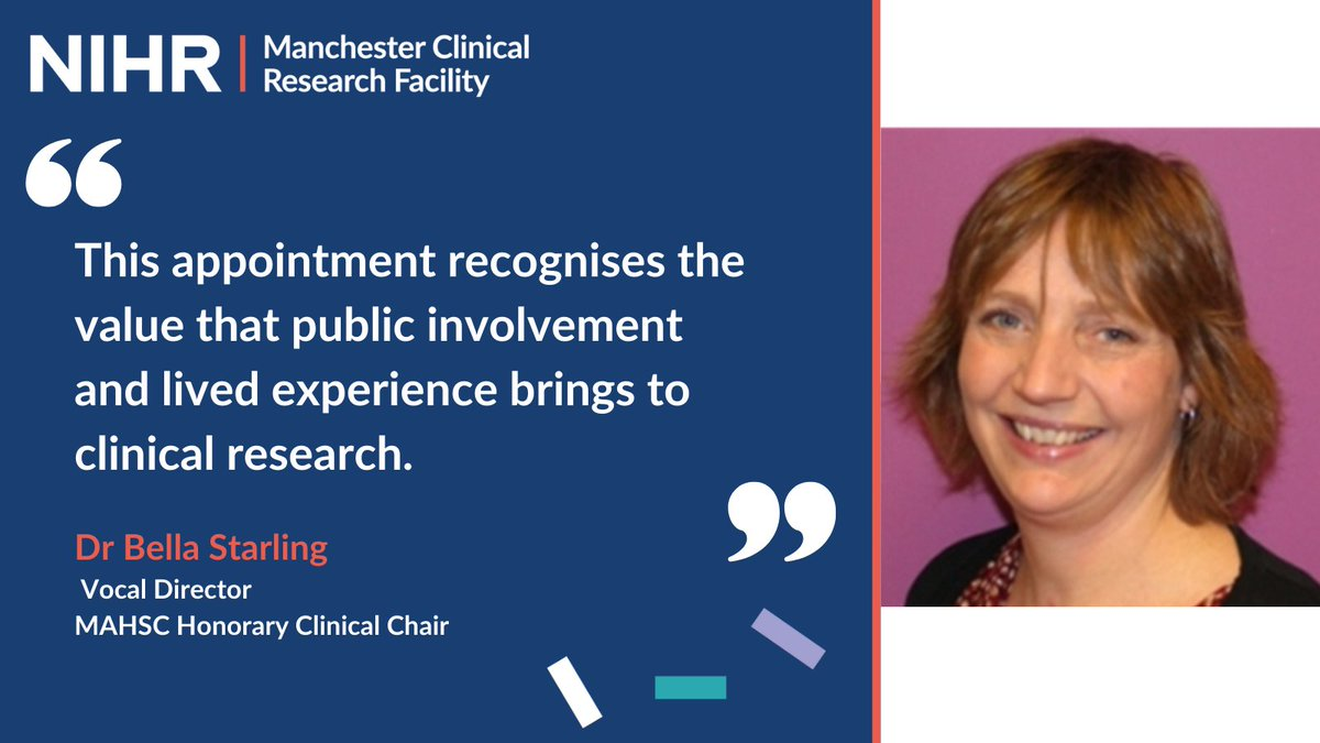 Congratulations to our @bellastarling, Director of @letsgetvocal & Dr Simon Jones – appointed MAHSC Honorary Clinical Chairs in recognition of their outstanding contributions to research and innovation. 👏  Find out more 👇 https://t.co/JTg8bdBwiF https://t.co/kT5Wfobowo