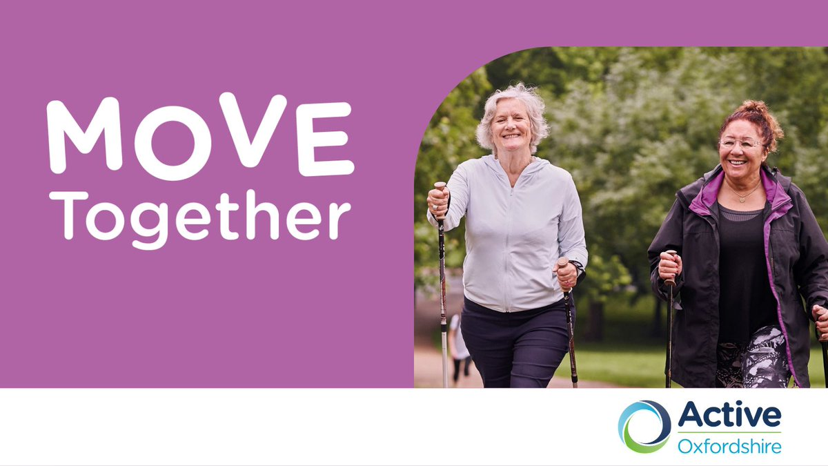 What is Move Together? A county-wide pathway to support #Oxfordshire residents most affected by COVID-19 to move more & protect their health & wellbeing. Read more about #MoveTogether here: https://t.co/eaLkwHwJHS #Oxfordshire