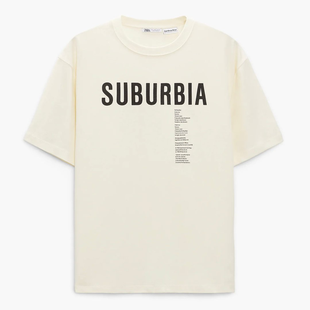 Check out four PSB T-shirts based on classic designs now available from @ZARA, in-store and online. There's also a tote bag. Links below.  https://t.co/QqpYfnBycK https://t.co/wIwuUQrO4M  #PetText https://t.co/9yIsxkoqp4