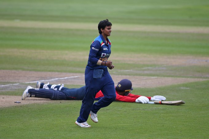 Deepti Sharma was announced Player of the Match for taking 1 Wicket, affecting 2 Run-Outs and scoring 24 Runs. PC: ESPN Cricinfo