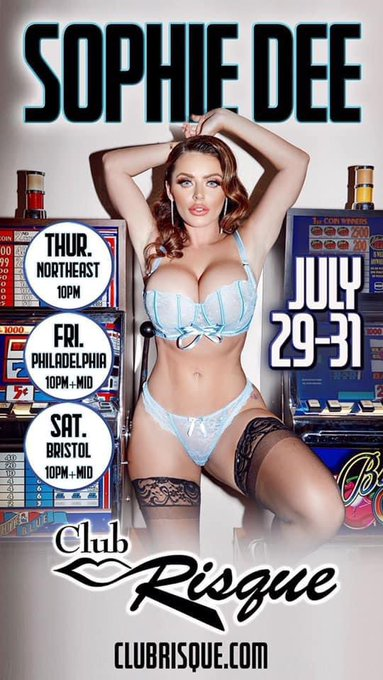 🎉 @ClubRisque 🎉 save the date! See ya there.. meet and greet available after each show! 💕 https://t.
