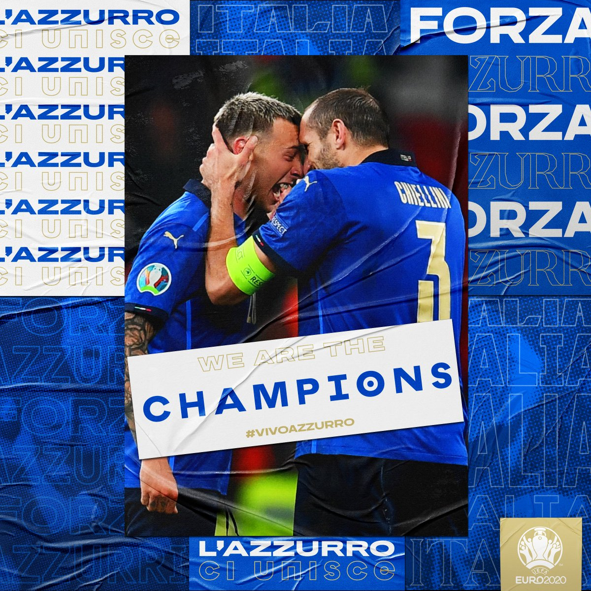 RT @azzurri : 𝐀𝐑𝐄 𝐀𝐑𝐄 𝐄𝐔𝐑𝐎𝐏𝐄𝐀𝐍 𝐂𝐇𝐀𝐌𝐏𝐈𝐎𝐍𝐒!!! 🤩 #VivoAzzurro #EURO2020 #ITA #ITAENG https://t.co/sj2020ycqnBI2020