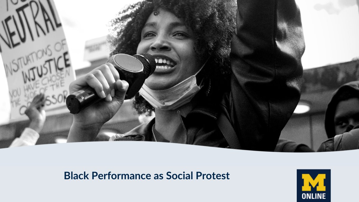 Take a journey through US history and discover how African American protest is expressed through music, dance, and theatre in this new online course from @umichsmtd.  #civilrights #socialprotest #performingarts  Get started at @futurelearn @UMichOnline  https://t.co/ulWlB7qVem https://t.co/0ZG7HQ8s5k