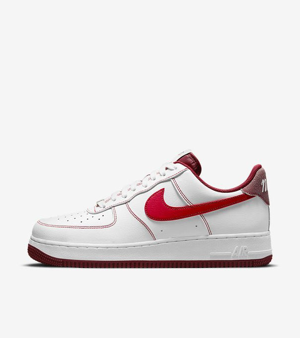 Nike Air Force 1 First Use 'White / University Red'