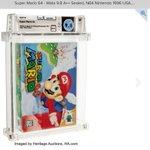 スーパーマリオ64の新品未開封品がオークションで最高値更新!