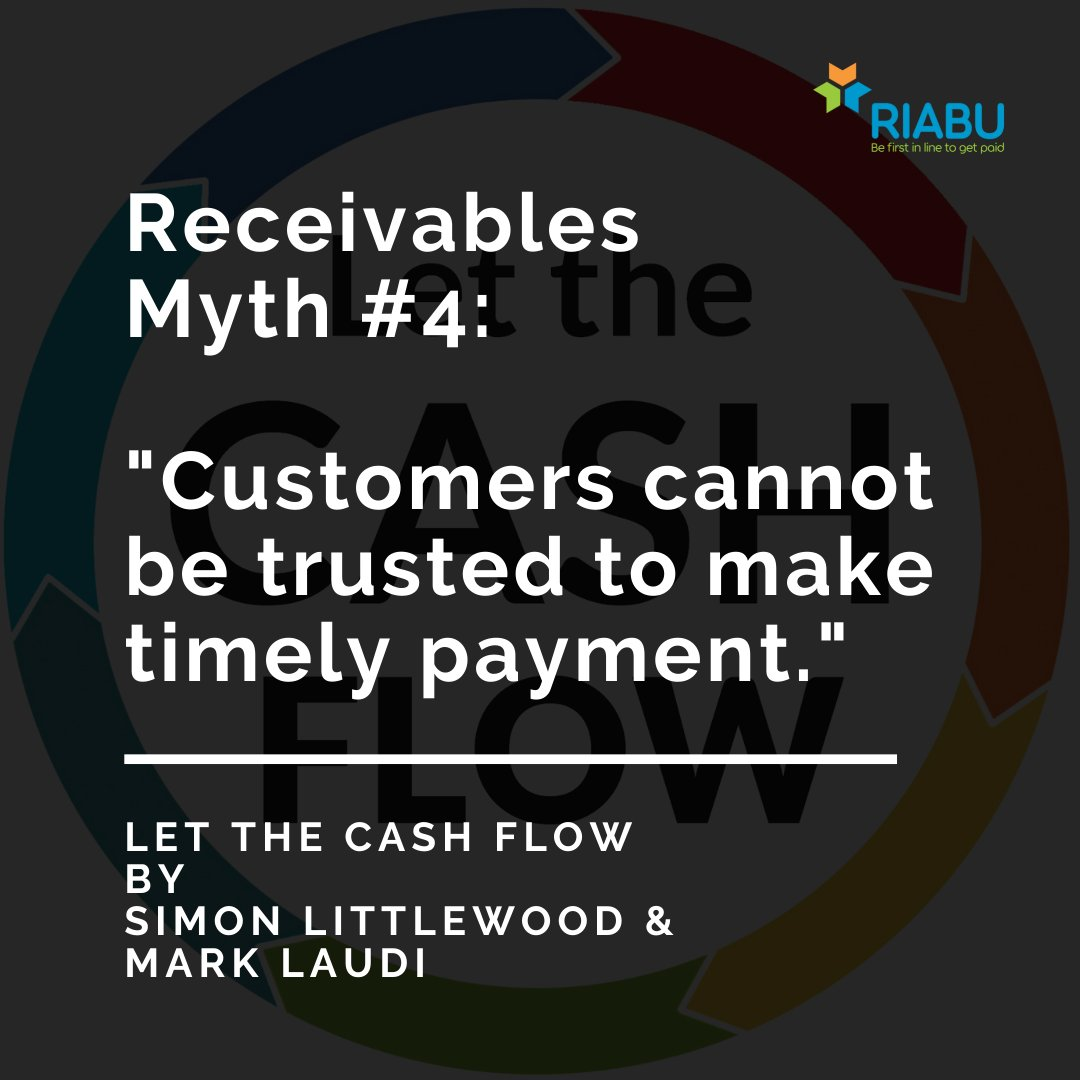 Are customers really to blame for late payment?  In Let the Cash Flow, authors @acgsimonsays and @marklaudi explain how suppliers often give customers excuses to delay payment.  Get your copy here: https://t.co/oByhMKRhXB. #riabu #book #payment #customer #supplier https://t.co/H9S9uYsr2H