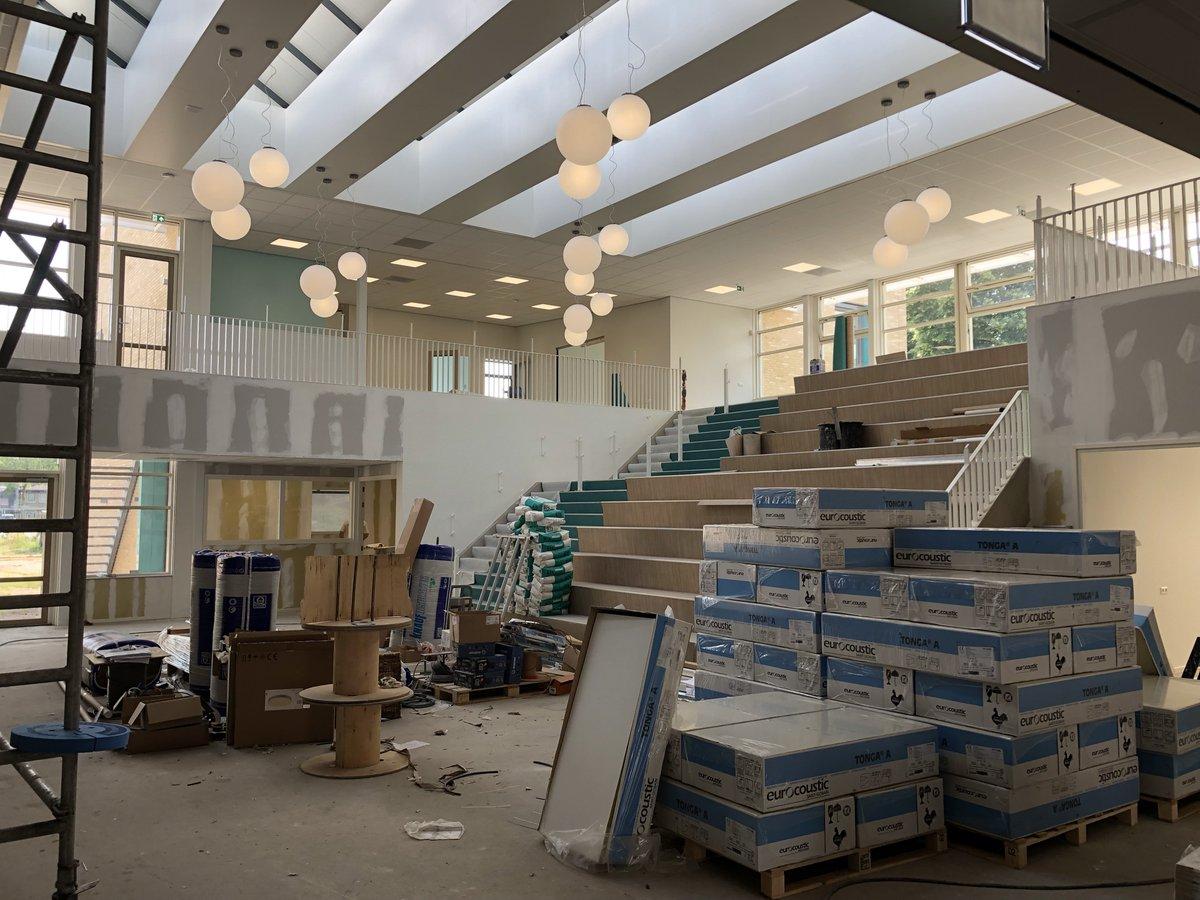 Image for the Tweet beginning: Onze nieuwe #school nadert de