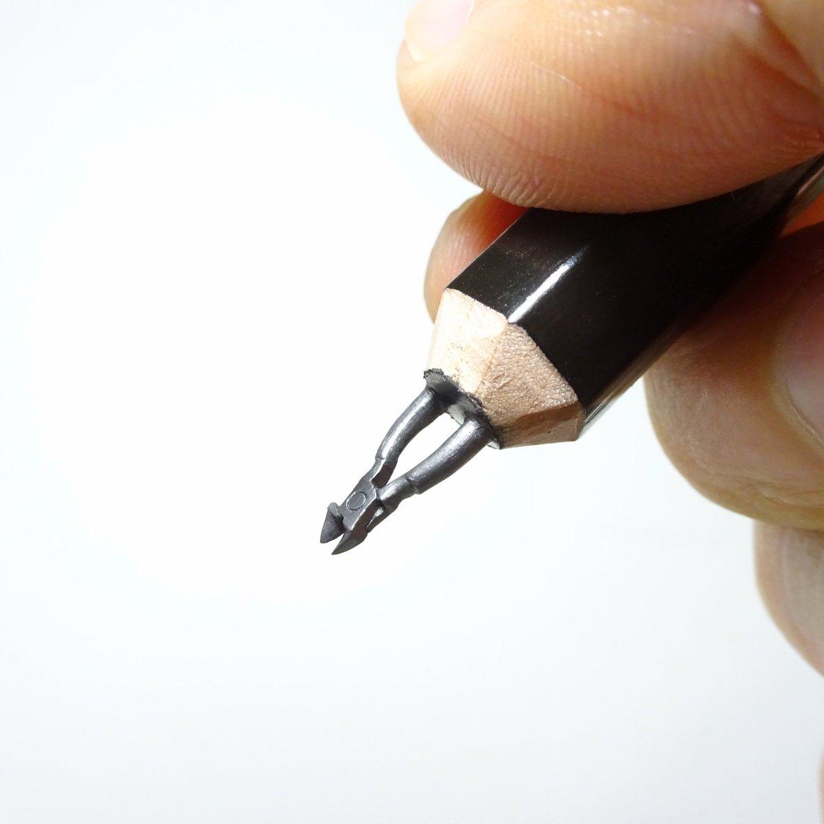 超絶細かい作業⁉鉛筆の芯でニッパーを作ってみた‼