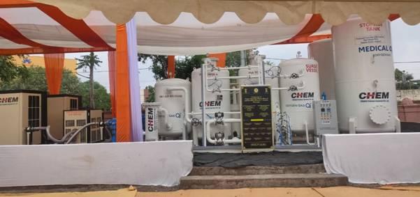 Medical Oxygen PSA units dedicated at 'Sir T Hospital', Bhavnagar