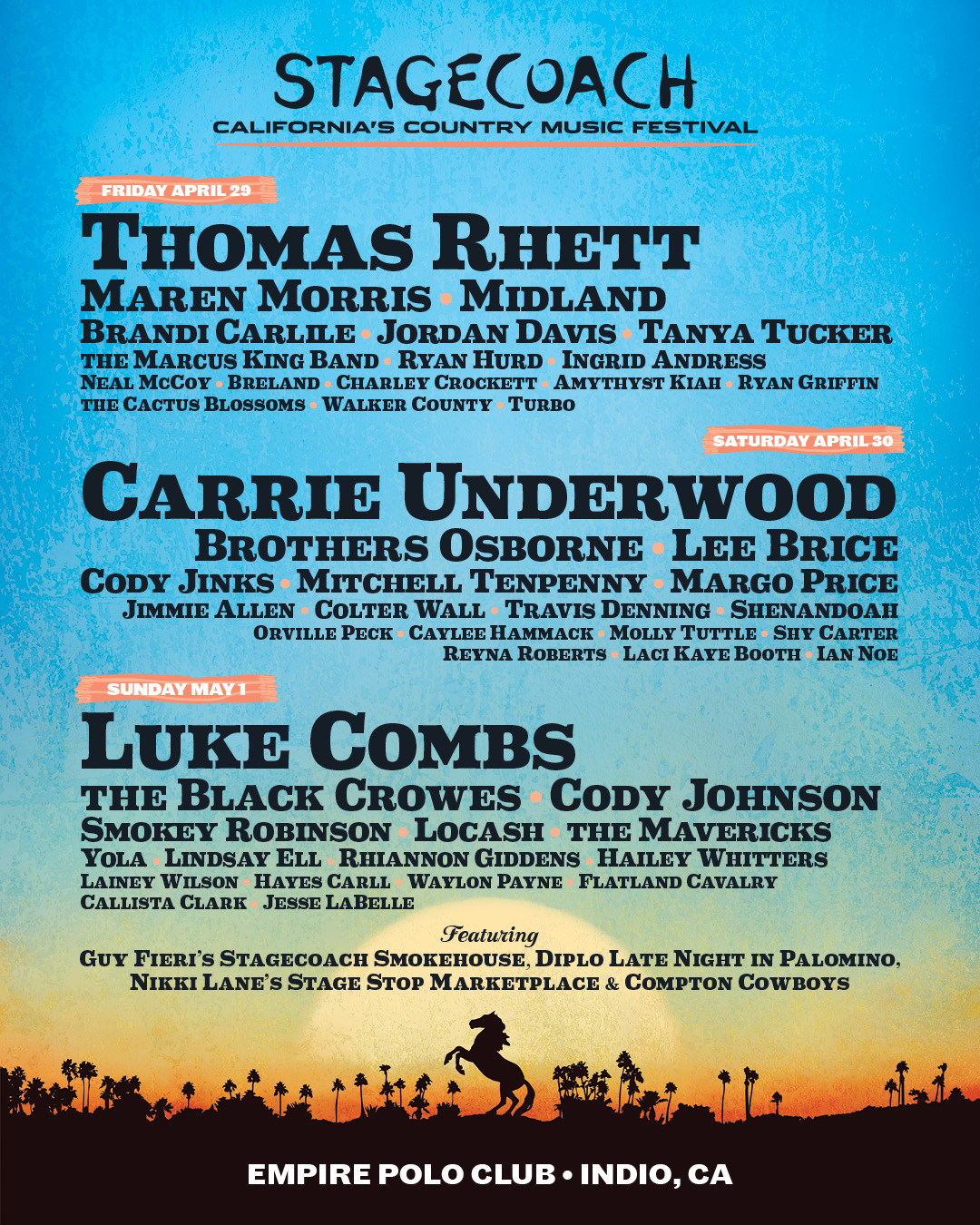 stagecoach lineup 2022