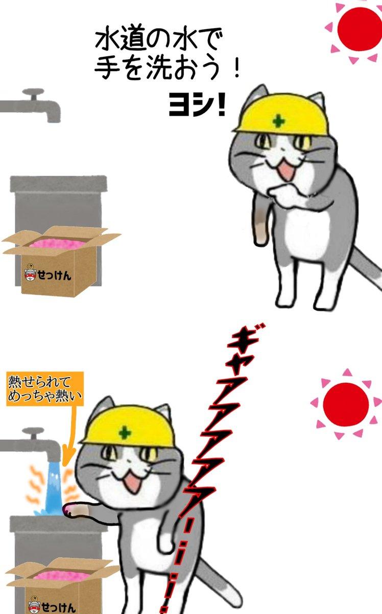 真夏の作業員でこれを経験しない人はいない #現場猫