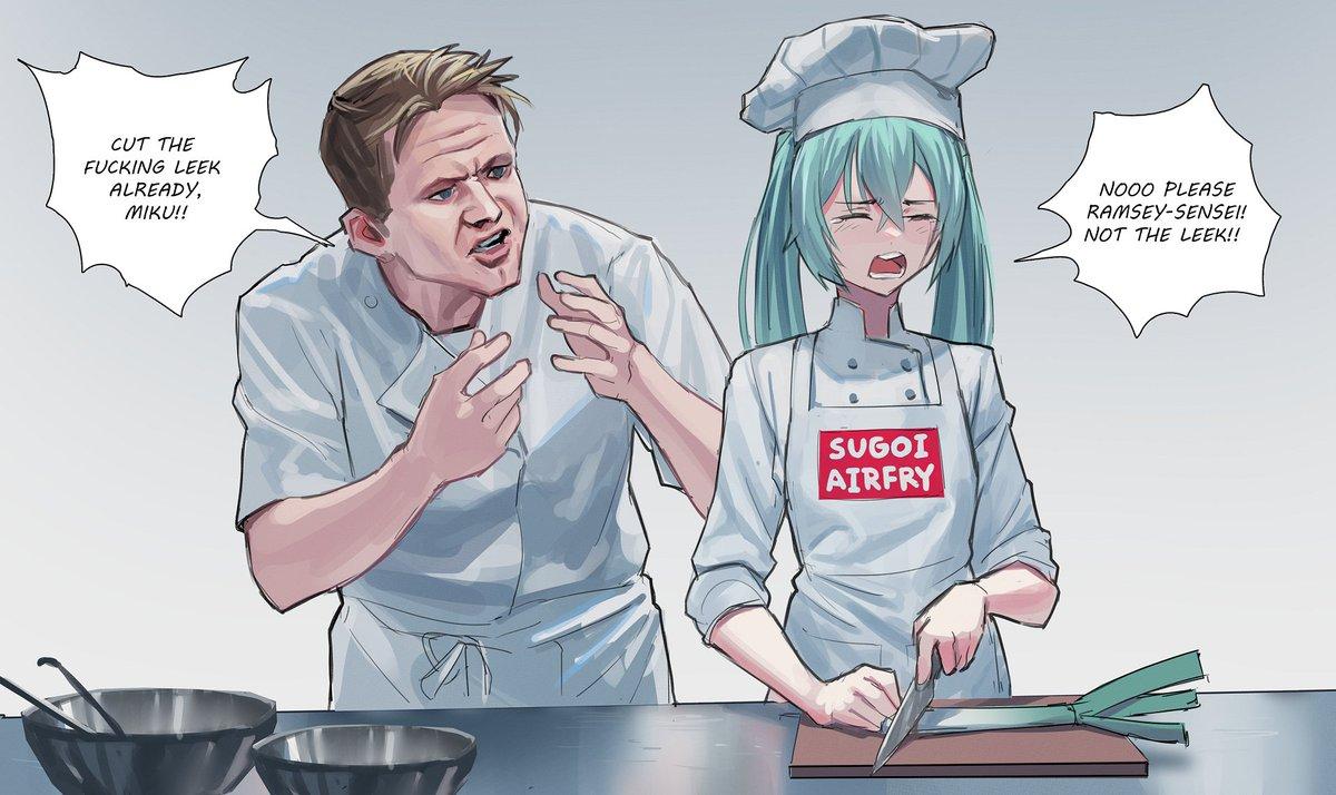 Miku in Hell's Kitchen     #miku100 #初音ミク