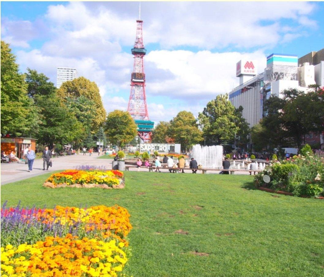 こうだったのがこうなって、そしてこれが完成したのか。サッポロ大通公園。東京のオリンピックのために。