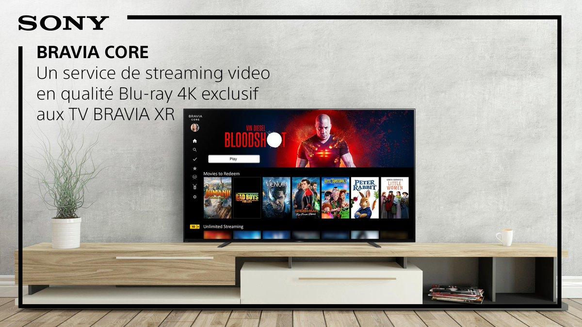 BRAVIA CORE : du streaming en qualité Blu-Ray 4K inclus lors de l'achat de votre TV Sony. Découvrez ce service inédit dans notre vidéo explicative : https://t.co/ViuoLBe0Ol https://t.co/kdiVrZtyNA