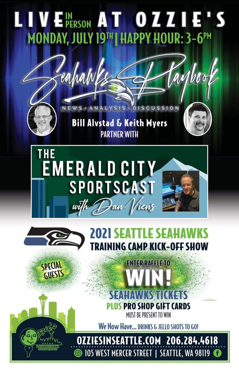 #seahawks training camp preview with me, @NWSeahawk @MyersNFL and special guest @CorbinSmithNFL of Seahawk Maven! https://t.co/gz6vvaOu58