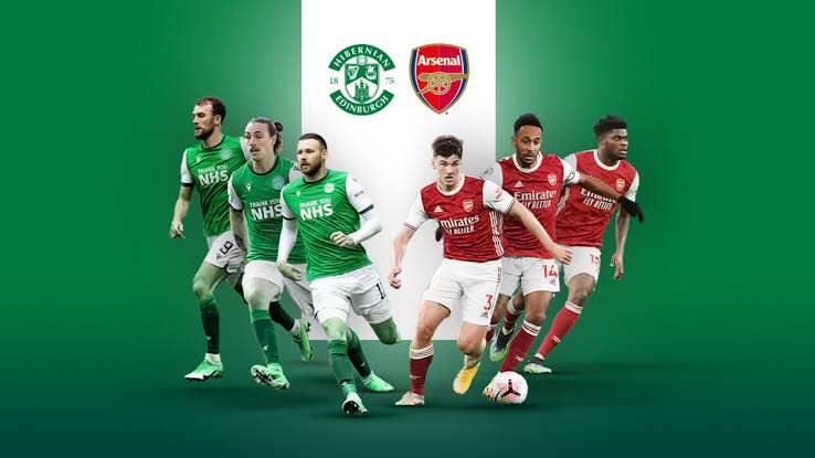 Hibernian vs Arsenal Highlights 13 July 2021