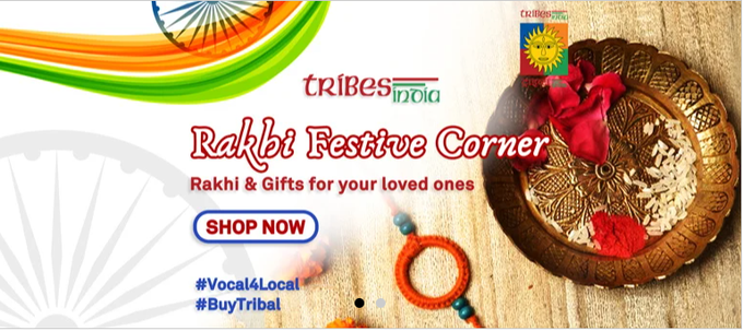 ट्राइब्स इंडिया ने आगामी रक्षाबंधन त्योहार के उपलप्क्ष में सजावटी राखी और अन्य उपहारों की बिक्री शुरू की
