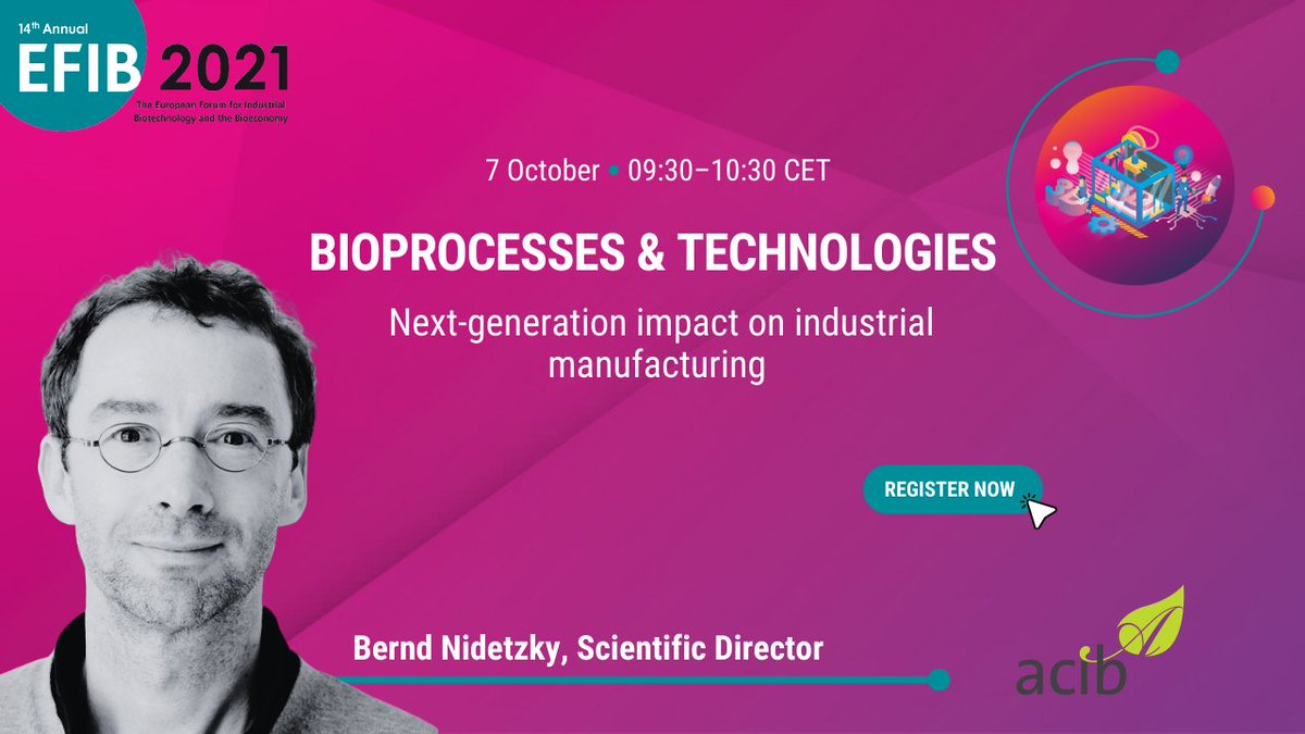 test Twitter Media - #EFIB2021 introduces you to Bernd Nidetzky, Scientific Director @acibGmbH. He will be joining us in #Vienna for the #Bioprocesses & #Technologies session. 📌Interested in the latest trends and technologies in the field of industrial biotechnology? JOIN US: https://t.co/7tead207tc https://t.co/mKy9fkcnLA