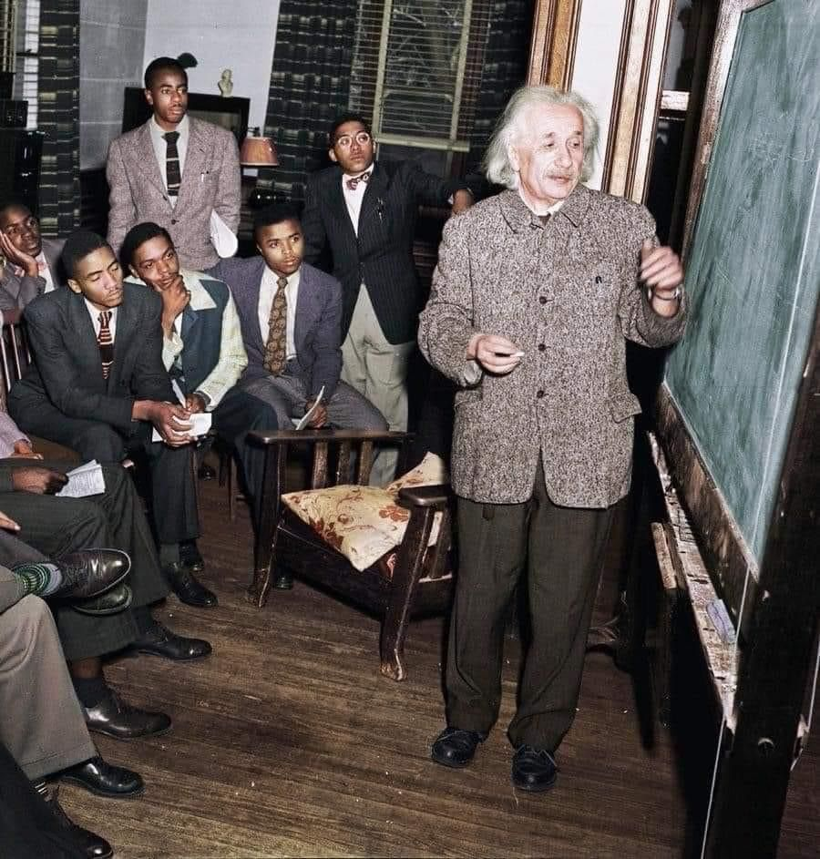 """This is genius Albert Einstein who refused to speak at white colleges and at the end of his life spoke exclusively at black universities  """"The separation of races is not a disease of colored people but a disease of white people. I do not intend to be quiet about it."""" https://t.co/tvtBmtqJi7"""