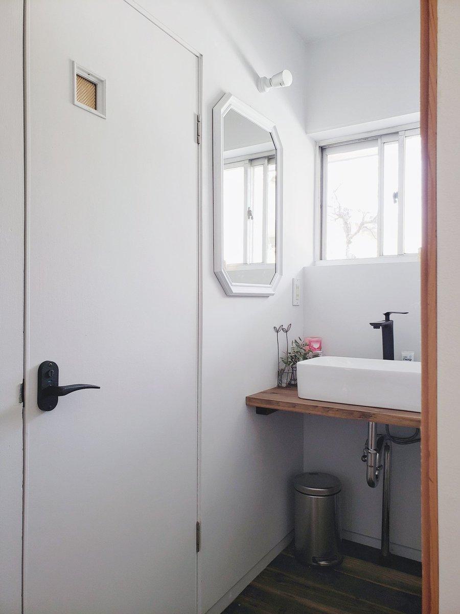 洗面所のビフォーアフターが素晴らしい!業者かと思った