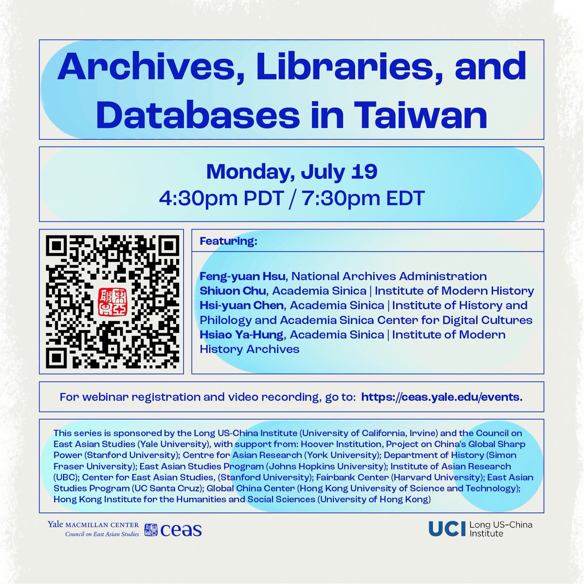 """Missed our webinar on """"Archives, Libraries, and Databases in Taiwan""""? Video is now available here: https://t.co/gEufK21liL https://t.co/qCwHCAtrKW"""