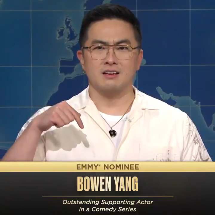 RT @nbcsnl: Bowen Yang making history as the first featured player to be nominated for an Emmy ✨  CONGRATS! https://t.co/KY1GWxgNbh