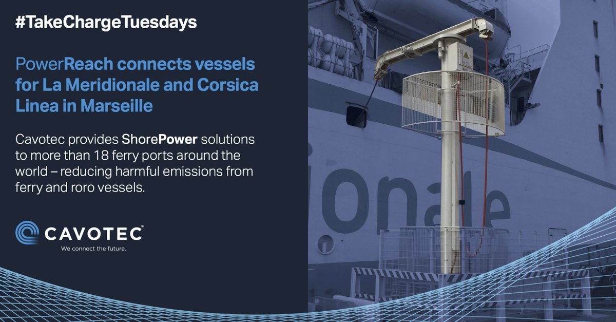 We provide #shorepower solutions for #ports, ships, and charging for e-vessels. Over the next 3 weeks, we're highlighting applications as part of our #TakeChargeTuesdays announcements. This week, solutions for ports: https://t.co/yadtOB7TLZ  #maritime #cleantech #maritimeindustry https://t.co/SOrPj5LV6D