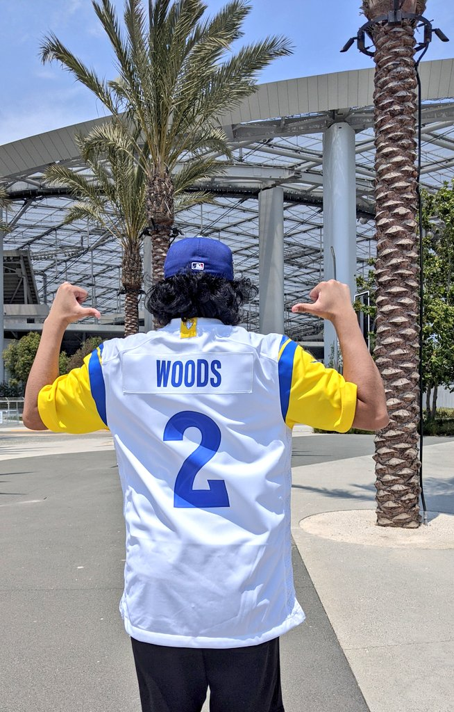 Had to rock my boy @robertwoods!! 🐏 These new Rams jerseys are 🔥