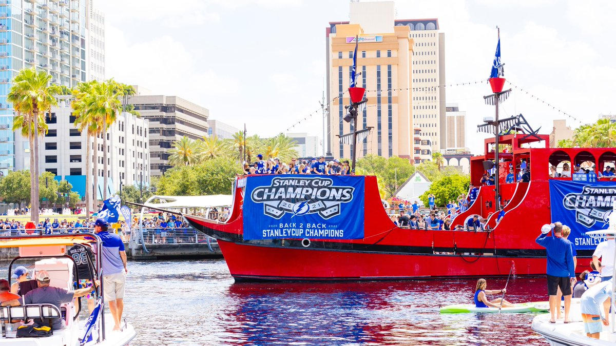 test Twitter Media - RT @VisitTampaBay: Cup. Boat Parade. Repeat. Thank you, @TBLightning, for another incredible season! #GoBolts https://t.co/AOwdBqnXXO