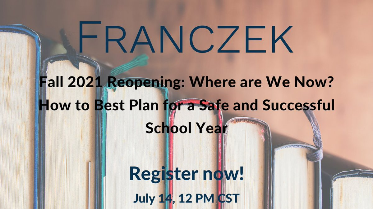 Another helpful webinar on the docket this week for us! Thank you @Franczek for offering this to us.