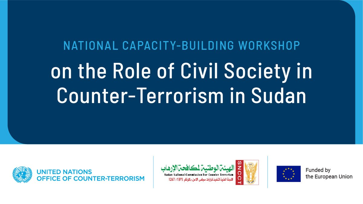 The 🇺🇳🇪🇺 #CounterTerrorism Partnership for #Sudan workshop explored collaboration w/ #CSOs for a whole-of society approach to CT & #PCVE implementing the 4 pillars of the @UN #GCTS.  Organized by @UN_OCT & 🇸🇩National CT Commission #SNCCT w/@UNITAMS @UNDP_Sudan @AU_ACSRT @EU_SUDAN https://t.co/VWUmWzSCmW