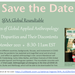 Image for the Tweet beginning: Save the date: #COVID19 #anthropology