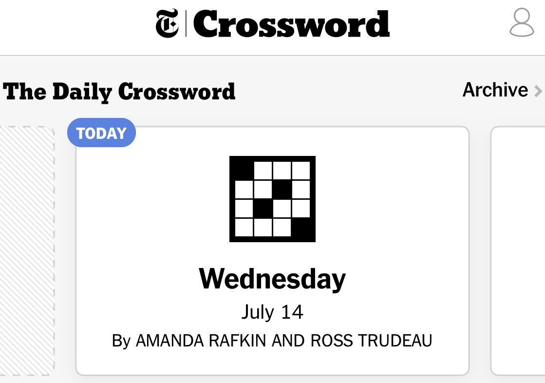 Hope you enjoy me and @TrudeauRoss's 8th #nytxw collab and our *74638th collab in general (*rough estimation that is probably accurate) https://t.co/X7Sio5y8lp