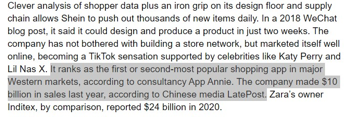 The super-low profile Chinese clothing company that generated revenue of $10 bn by selling online and keeping quiet about its origins. Interesting by @sharonlamhk https://t.co/NCV9GoDFn7 https://t.co/jtgqzgMlhN