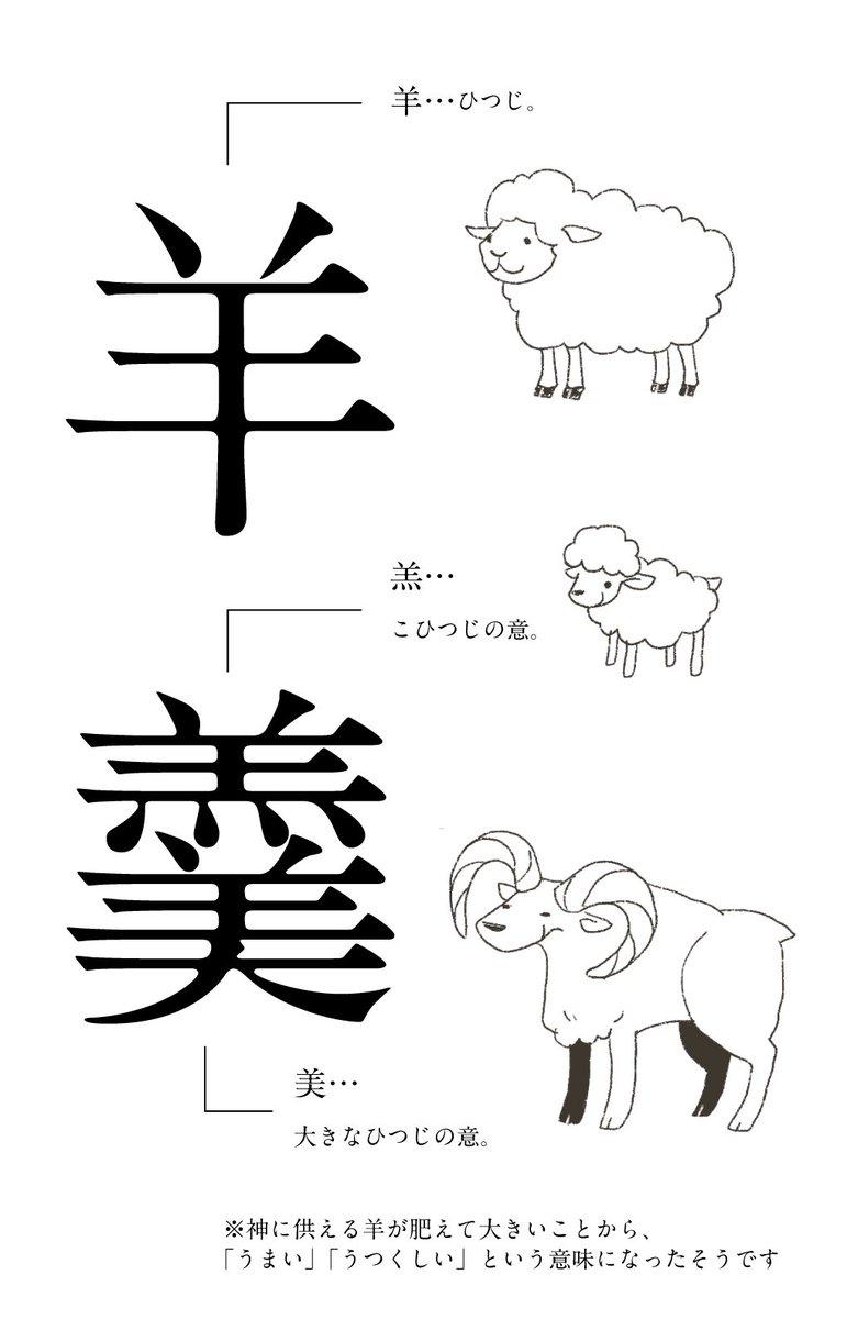 羊羹、羊にまつわる漢字だけで組み合わさっていたことに気づいて興奮してます