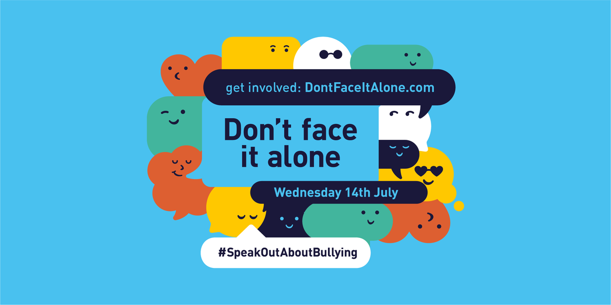 Thousands of young people experience bullying every day. No one should have to face it alone.    If you're a parent, carer or teacher find out what you can do to help: https://t.co/R29dtc0xoB   #SpeakOutAboutBullying https://t.co/VEB6S9EiKy